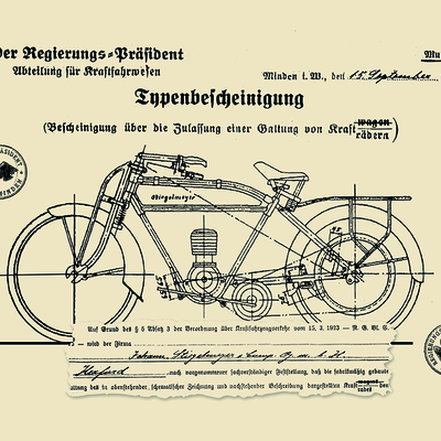 In addition to producing metal beds and the new addition of wooden furniture, a 3.8 hp motorcycle is developed in 1924.